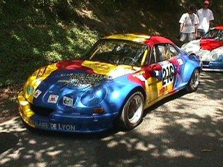 Marc Cotleur sur son Alpine A110 numéro 216