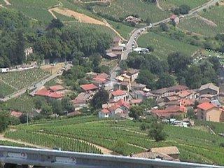 Le village depuis la ligne d'arrivée